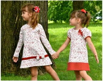 Dress Saver Bundle - A line Dress with Raglan Sleeves - PDF sewing Pattern for Jersey Knit Fabric