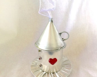Tiny Top Hat: The Tin Man - Wizard of Oz costume party cosplay Lolita Silver Red Heart Dorothy Toto