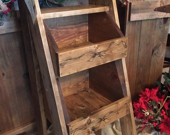 Rustic Wood Storage Bins
