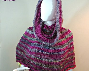 Magical Hooded Poncho - Knit PATTERN PDF ONLY - sizes S to 5x