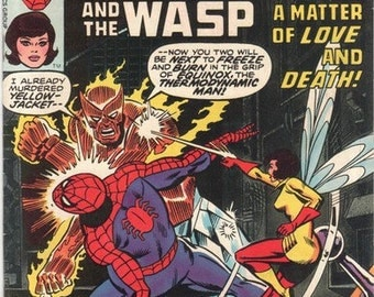 Vintage Marvel Team Up, Spider-Man and The Wasp #60, Marvel Comics, Antique Alchemy