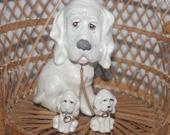 Vintage Japan Dog with Babies, 1950s,  Antique Alchemy