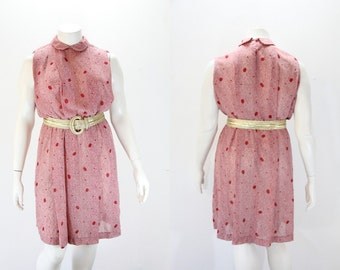 XXL Dress - Sleeveless Dress with Peter pan Collar