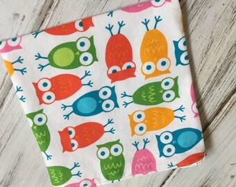 Owl Print Reusable Bag with Zipper Closure