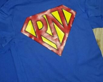 Superhero - superman RN - Nurse shirt or tank
