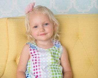Girl dress - Pastel rainbow weave print Aline dress - Baby girl -Toddler girl dress - size 0-3m, 3-6m, 6-12m, 12-18m, 18-24m, 2T, 3T, 4T, 5T