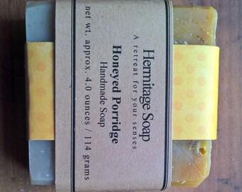 Honeyed Porridge: Coconut milk Soap, Vegan Soap, agave nectar soap, oatmeal soap, Palm Free Soap