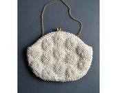 vintage bead purse / 50s purse