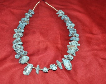 Sterling Silver and Turquoise 22 inch Necklace
