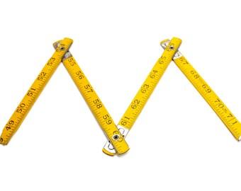 Vintage Folding Ruler, Carpenters Ruler, Jointed Ruler, Woodworking Prop, Measuring Stick, Wooden Folding Measuring Stick,  Epsteam