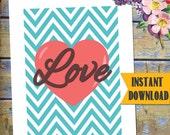 Love Printable / Instant Download SUBWAY Art / DESIGN miniPOSTERS / DIY Valentine Printable / #LovePrintable #ValentinePrint #Love