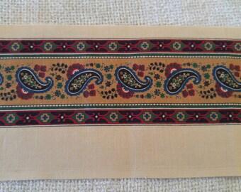 Vintage Paisley Trim Cotton Fabric