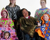Kid Wheelchair Poncho Coat Cover Blanket 3-7 years old