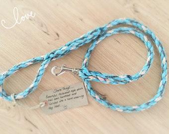 Rope Dog Lead, Reclaimed Rope Leash, Nautical Dog Lead, Blue Dog Lead, Dog Gifts, Handmade on the Isle of Wight