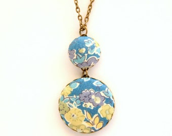 Liberty of London Large Pendant Necklace in Tatum Blue