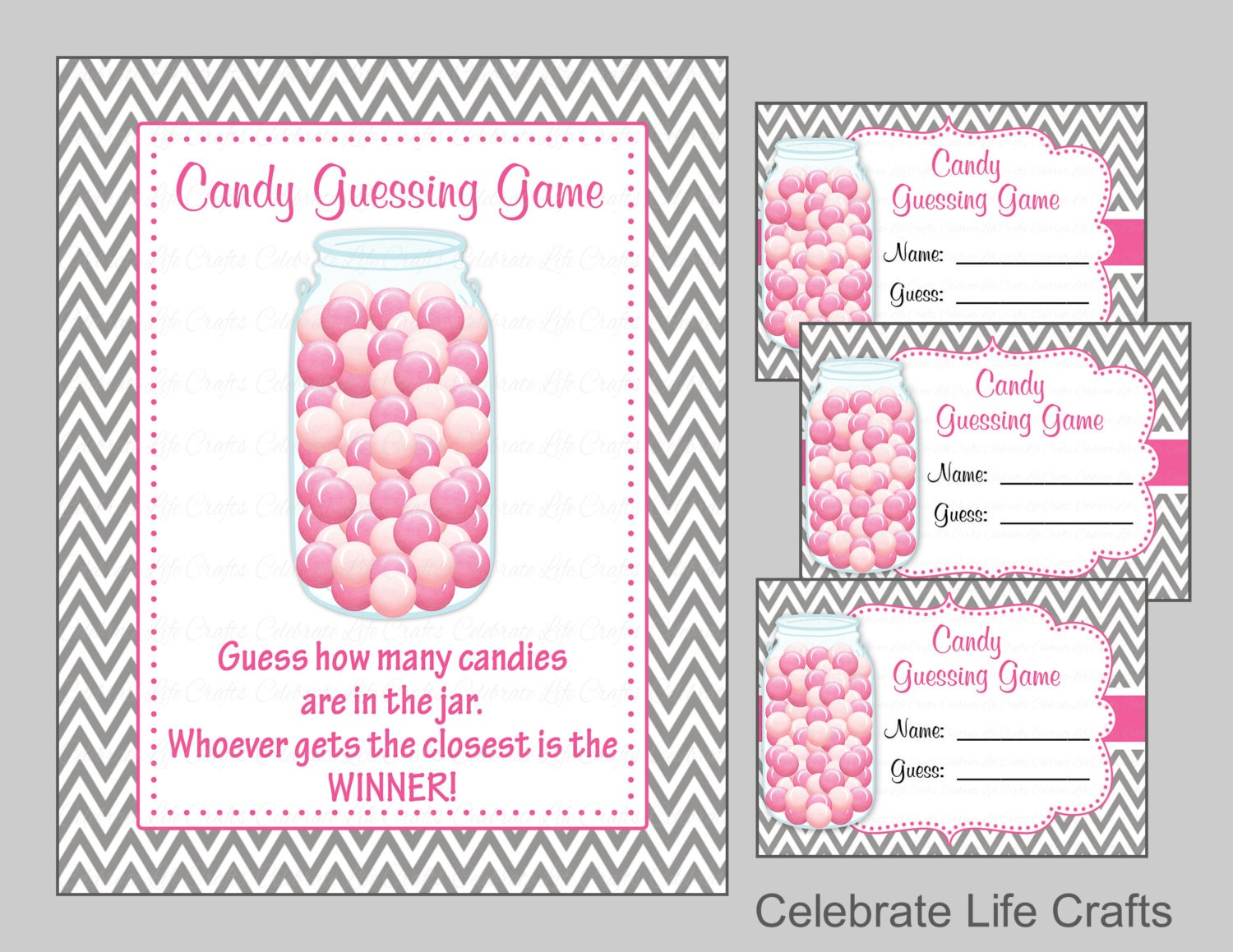 printable candy guessing jar pictures to pin on pinterest thepinsta. Black Bedroom Furniture Sets. Home Design Ideas