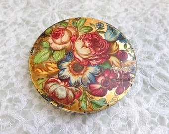 Vintage Shabby Rose Compact