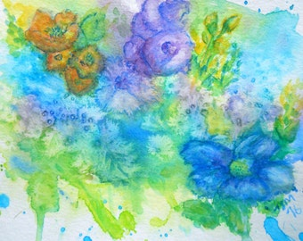 "ORIGINAL watercolor painting, NOT a print, ""A Touch of Spring"""