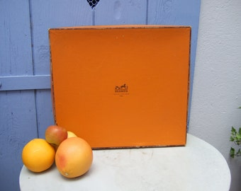 Original Vintage Hermes, Handbag Box.  Large Size.
