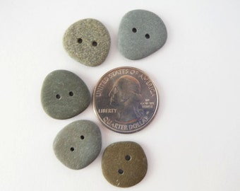 Beach Pebble Buttons - Set of 5