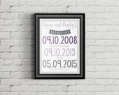 Love Story Printable Sign - Important Date, Wedding Gift, Anniversary Gift, Special Dates - Digital Download