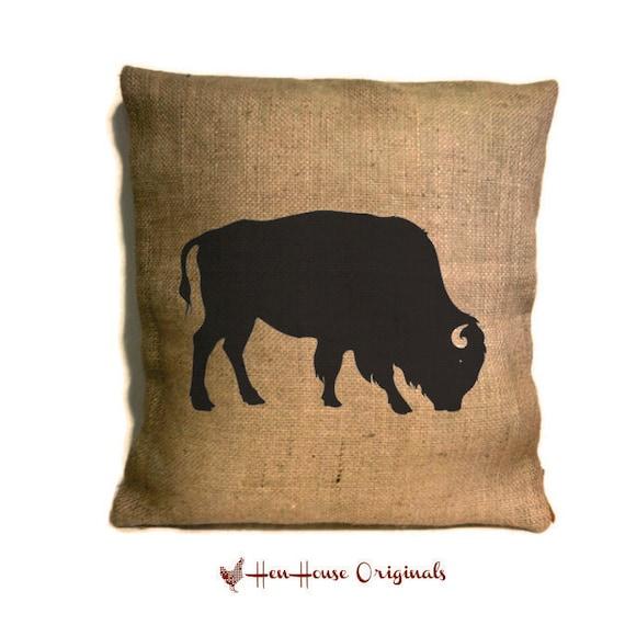 Buffalo Pillow Buffalo Pillow Rustic Home Decor Cabin