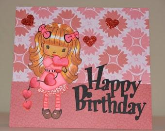 Hugs and Kisses Birthday Greeting Card