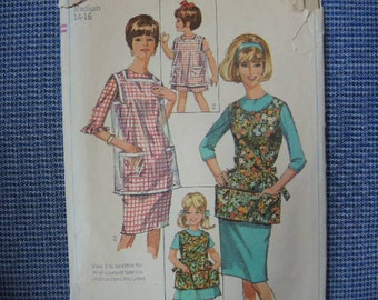 vintage 1960s Simplicity sewing pattern 6809 misses apron size 14-16