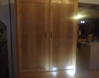 solid cherry armoire