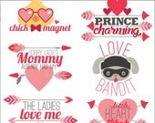 Valentine Clip Art Boy Sayings  -Personal and Limited Commercial Use- Cute Valentine Clipart Titles