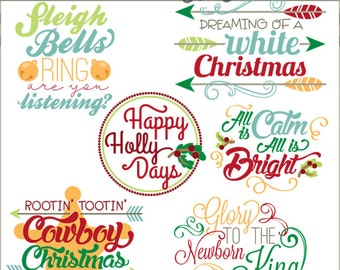 Christmas Clipart Quotes and Scrapbook Titles -Personal and Limited Commercial Use- Christmas Words Clip art
