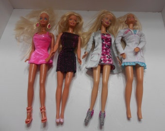 Four Vintage 1966 Barbie Dolls--3 Indonesia, 1 China  (BP)