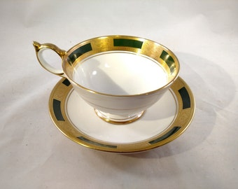 Aynsley Empress Laurel Tea Cup and Saucer, Mint Condition