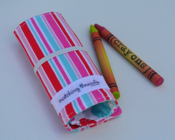 Clearance Polka Dot Amp Stripes Crayon Roll Up To 12