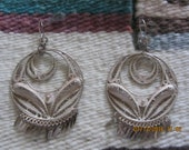 Sterling 925 Silver Filigree Dangling Earrings Made In Mexico