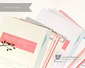 Cream / Ivory Colored Pages