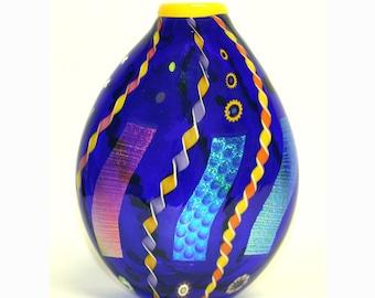 Cobalt Abstract Vase