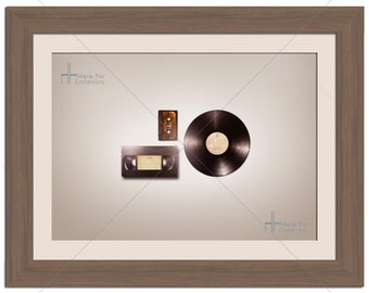 Music Audio Video Cassette Vinyl Retro Photographic Print - Various Sizes - Gift Idea