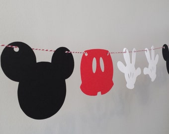 Mickey Mouse Party Banner - Party Decor - Baby Shower - Birthday Party - Mickey Mouse Party Inspired Decorations