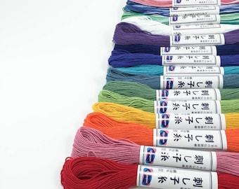 Sashiko Thread Set - 15 Skeins Cotton Japanese Embroidery Thread for Sashiko, Hand Quilting, Hand Embroidery