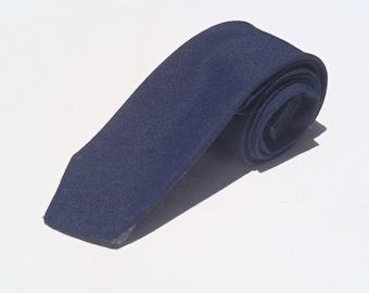 Vintage 1960s Navy Uniform Polyester Tie by Samuel Brooks