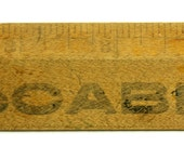 Vintage 12 Inch Oak Wooden Advertisement Ruler - McCabe's Drug Store
