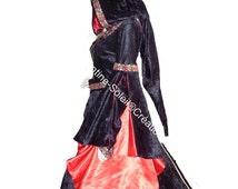 Medieval dress, the Renaissance cotton velvet, custom-made product.