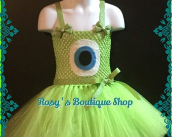 Monsters Inc, Mike tutu dress, Birthday tutu dress, Halloween tutu costume
