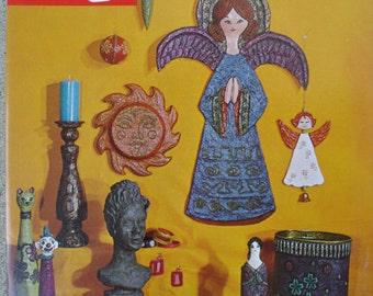 Vintage Craft Book, Celluclay, Instant Papier Mache', Unused