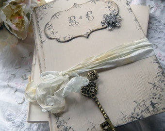 Wedding Guest Book by shabbyweddingbooks