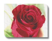Rose paper napkin for decoupage x 1. Red rose. No 1056