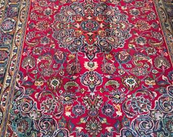 Vintage Persian Carpet Bahktiar Rug
