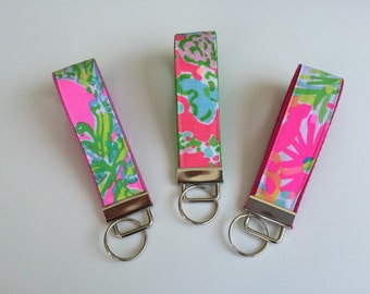 Lilly Pulitzer Fabric Wristlet Key Fob - Choose One