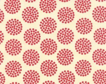 THE SWEET LIFE - Cheery Red - #43022- 31 - One Half Yard - by Pat Sloan for Moda - Style - Red - Cream